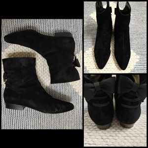 RARE🦄 vintage Versace suede ankle boots 9.5